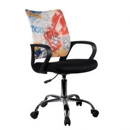 Tempo Kondela Otočná kancelářská židle STREET - černá / vzor