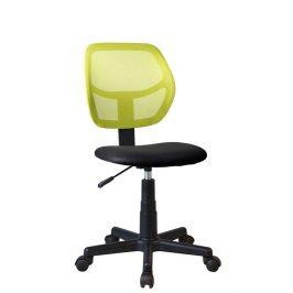 Tempo Kondela Otočná židle MESH - zelená / černá