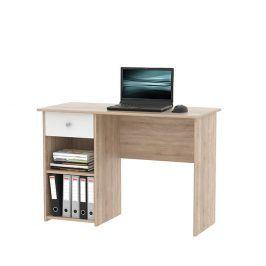 Tempo Kondela PC stůl KARLIS - dub sonoma / bílá