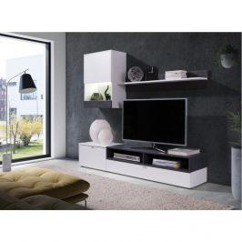 Tempo Kondela Obývací stěna ROSO - bílá/sosna tmavá