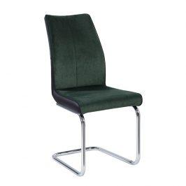 Tempo Kondela Jídelní židle FARULA - smaragdová / černá