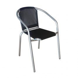 Tempo Kondela Židle KERTA - černá / stříbrná