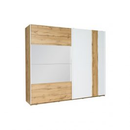 Tempo Kondela Šatní skříň 2-dveřová VODENA 200 - dub wotan/bílá