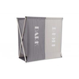 Autronic Koš na prádlo látkový 2-komorový DD3110 - barva šedá