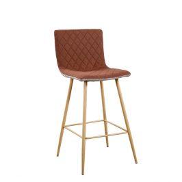 Tempo Kondela Barová židle TORANA - světlehnědá/hnědá/buk