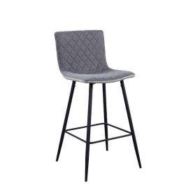 Tempo Kondela Barová židle TORANA - světle šedá/šedá/černá