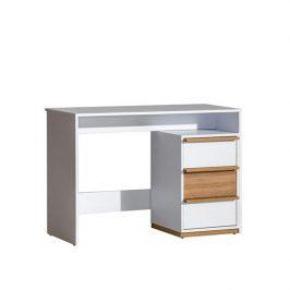 Tempo Kondela PC stůl KNOX E14 - ořech select / bílá