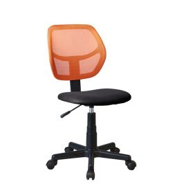 Tempo Kondela Otočná židle MESH - oranžová / černá