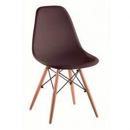 Tempo Kondela Židle CINKLA 3 NEW - tmavě hnědá / buk