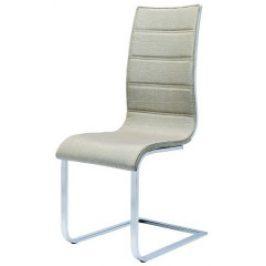 Halmar Jídelní židle K104 Béžová látka/překližka bílá