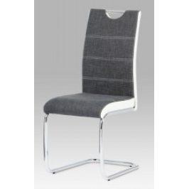 Autronic Jídelní židle HC-582 GREY2 - šedá/bílá
