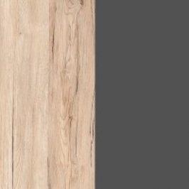 BRW Závěsná vitrína Elpasso SFW1W Dub san remo světlý/Šedý wolfram
