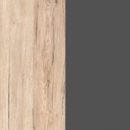 BRW Závěsná vitrína Elpasso SFW1W Dub san remo světlý/Šedý wolfram Obývací stěny