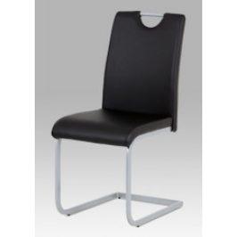 Autronic Jídelní židle DCL-121 BK - černá koženka
