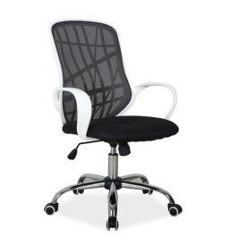 Casarredo Kancelářské křeslo DEXTER černá/bílá