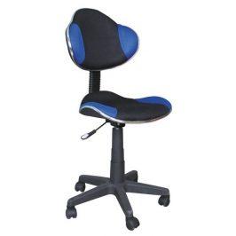 Casarredo Kancelářská židle Q-G2 černá/modrá