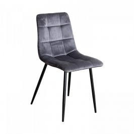 Idea Jídelní židle BERGEN šedý samet