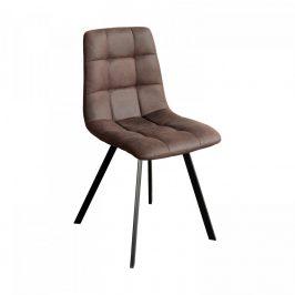 Idea Jídelní židle BERGEN hnědé mikrovlákno