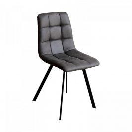 Idea Jídelní židle BERGEN šedé mikrovlákno