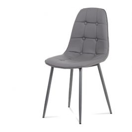 Autronic Jídelní židle CT-393 GREY šedá ekokůže