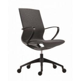 Antares Kancelářská židle Vision BLACK/NET DARK GREY - černý plast/tmavě šedá síť