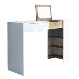 Tempo Kondela Toaletní stolek ELIS - bílá / dub sonoma