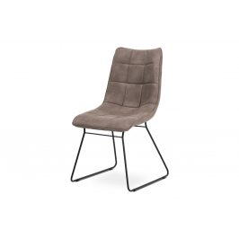 Autronic Jídelní židle DCH-414 LAN3 - lanýžová látka