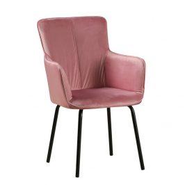 Tempo Kondela Designové křeslo VETAR - růžová/černá