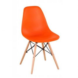 Tempo Kondela Židle CINKLA 3 NEW - oranžová / buk