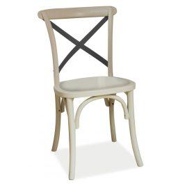 Casarredo Jídelní dřevěná židle LARS II bílá