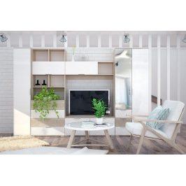 Casarredo Obývací stěna TERRA II sonoma/bílá lesk