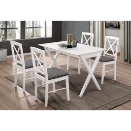 Casarredo Jídelní čalouněná židle BRIXEN bílá/šedá