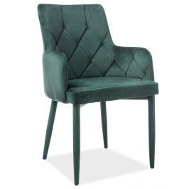 Casarredo Jídelní čalouněná židle RICARDO VELVET zelená