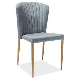 Casarredo Jídelní čalouněná židle POLLY šedá/dub