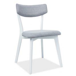 Casarredo Jídelní čalouněná židle KARL šedá/bílá