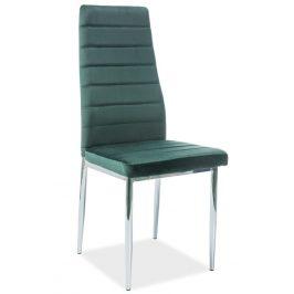Casarredo Jídelní čalouněná židle H-261 VELVET zelená