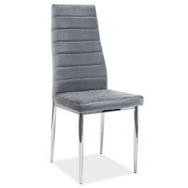 Casarredo Jídelní čalouněná židle H-261 VELVET šedá