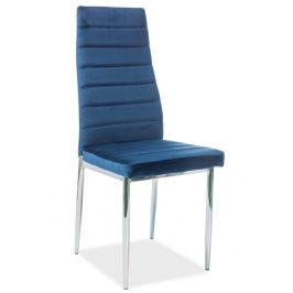 Casarredo Jídelní čalouněná židle H-261 VELVET modrá