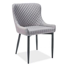 Casarredo Jídelní čalouněná židle COLIN B šedá/černá