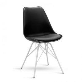 Stima Jídelní židle Desy - černá / bílá podnož