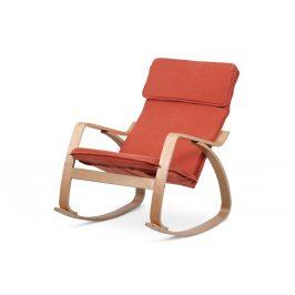 Autronic Relaxační křeslo QR-21 NAT - terracotta/přírodní