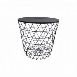 Tempo Kondela Příruční stolek BATIS TYP 3 - grafit / černá