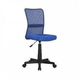 Tempo Kondela Dětská otočná židle GOFY, modrá/vzor/černá