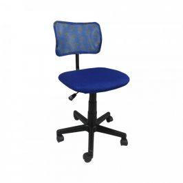 Tempo Kondela Dětská otočná židle PERCY, modrá / vzor / černá