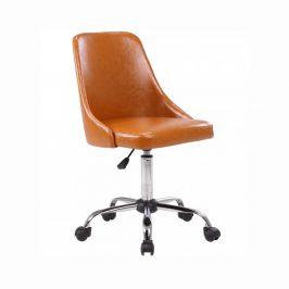 Tempo Kondela Kancelářská židle Ediz, hnědá/ chrom
