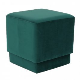 Tempo Kondela Taburet Alim - smaragdová Velvet látka