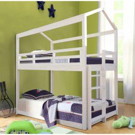 Tempo Kondela Montessori patrová postel ZEFIRE, 90x200 - bílá