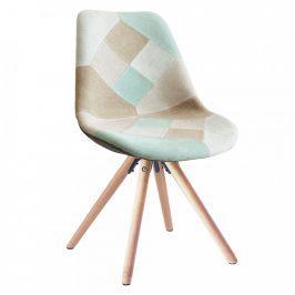 Tempo Kondela Jídelní židle GLORIA - patchwork mentol/hnědá