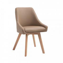 Tempo Kondela Židle TEZA, béžová ekokůže / buk