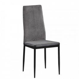 Tempo Kondela Jídelní židle ENRA - tmavě šedá/černá